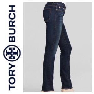 Tory Burch Super Skinny Jeans Dark sz 25